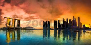 Singapore Skyline at sunset