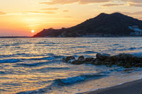 Sunrise on beach (Alykes, Zakynthos, Greece)