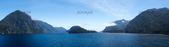 Fjord of Doubtful Sound in New Zealand