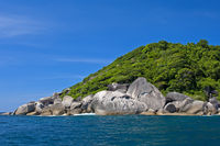 Rocky island in the Andaman Sea, Thailand