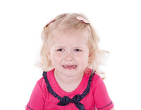 little girl 3 years old  isolated on white background