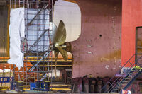 Blohm + Voss at port of Hamburg, Germany