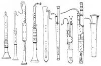 ancient woodwind instruments, pommer, shawm, oboe, bassoon