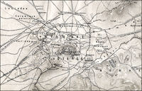Historical map  of ancient Athens, Greece