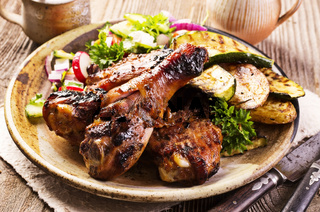 chicken grilled with vegetables
