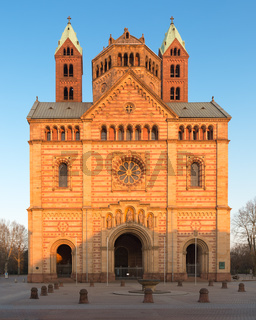 Speyer Cathedral with blue sky, Germany
