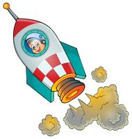 Image of small spaceship - picture illustration.