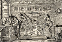 printing office for copper engravings in the 17th century