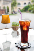 Fresh cola drink on the table