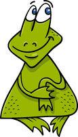 frog or toad cartoon illustration