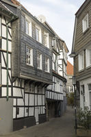Half-Timbered houses on the church-street in Hatti