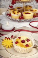 Quark Muffin mit Kerze