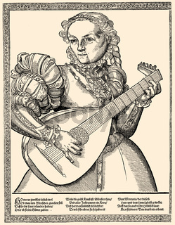 lute player, 16th century