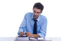 Businessman doubts his work