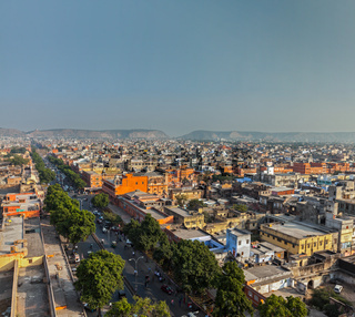 Aerial view of Jaipur  (Pink city)