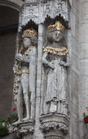 Emperor Otto IV. and Mary, historic Town hall, Brunswick, Germany