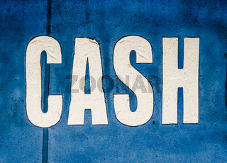 Grungy Cash Sign