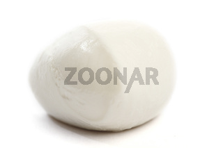 fresh italian  mozzarella on white background