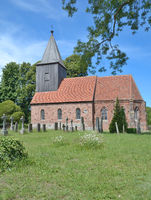 gothic Church of Gross Zicker,Ruegen Island