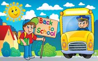Image with school bus topic 6 - picture illustration.