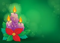 Christmas candle theme image 2 - picture illustration.
