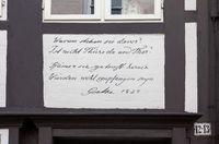 Quotation by Goethe, Brunswick, Germany