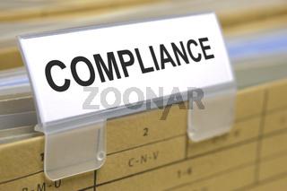 compliance marked on folder