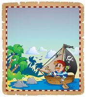 Pirate theme parchment 6 - picture illustration.