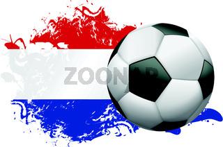 Netherlands Soccer Grunge Design