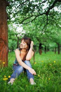 Grirl in park