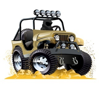Cartoon jeep