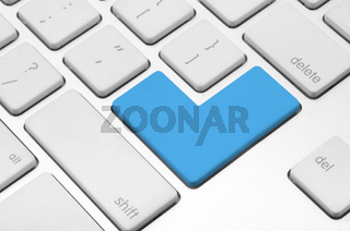 Blank blue button