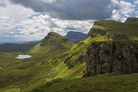 Quiraing mountain landscape, Scotland, UK