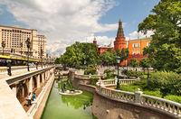 Alexandrovsky garden. Moscow, Russia.