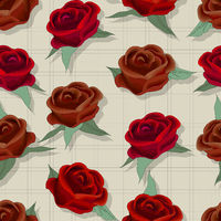 Retro style rose pattern
