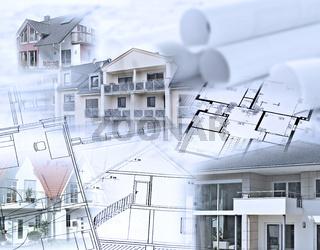 Immobilien und Baupläne