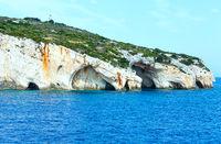 The Blue Caves in Zakynthos (Greece)