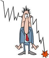 economic crisis cartoon illustration