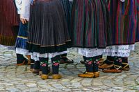 Accent on the beautiful bulgarian folk clothes