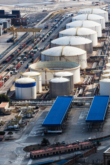 oil reservoir in seaport