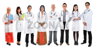 Multiracial Asian doctors