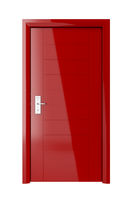 Red door with electronic lock