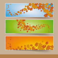 Three Colored Autumn Banners PiAd