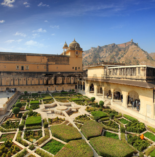 garden in amber fort - Jaipur