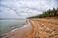 Baltic Sea coast of Darss in Germany HDR
