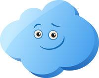 funny cloud cartoon illustration