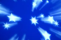 blue tech stars abstract background