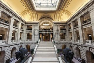 Inside Manitoba Legislative Building in Winnipeg