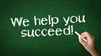 We help you succeed Chalk Illustration
