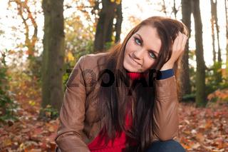 Brunette is waiting